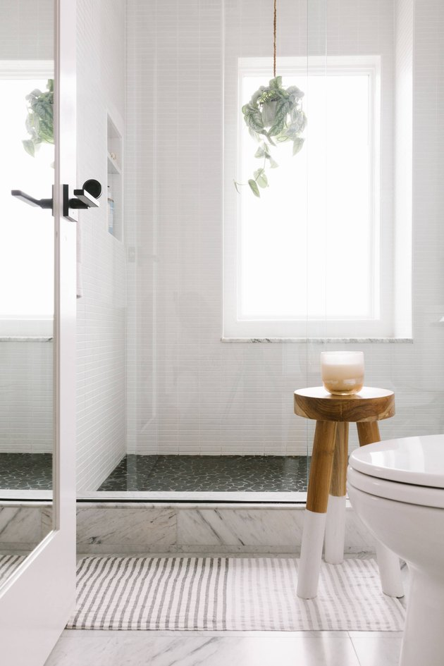white Scandinavian bathroom flooded with natural light