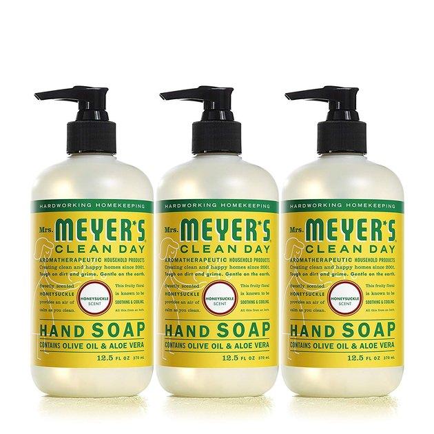 Mrs. Meyers Honeysuckle Hand Soap (3-Pack), $9.95