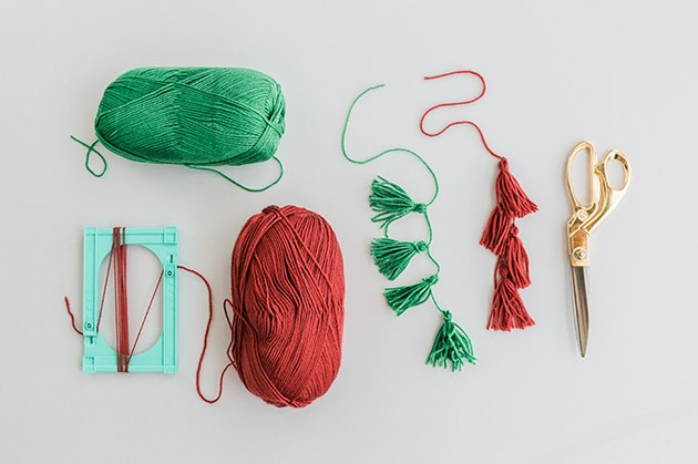 Make the tassels by hand.