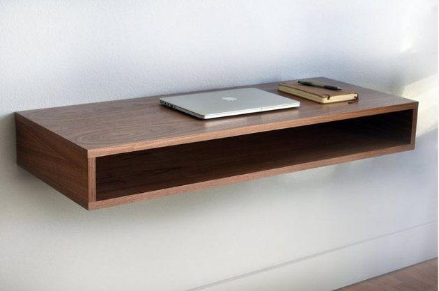 Floating desk.