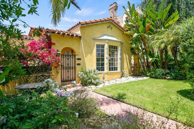 yellow spanish-style house
