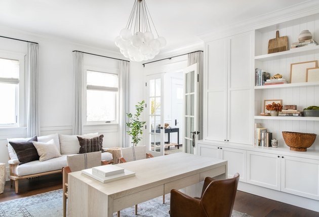 Home Office Doors with French doors in home office designed by Amber Interiors