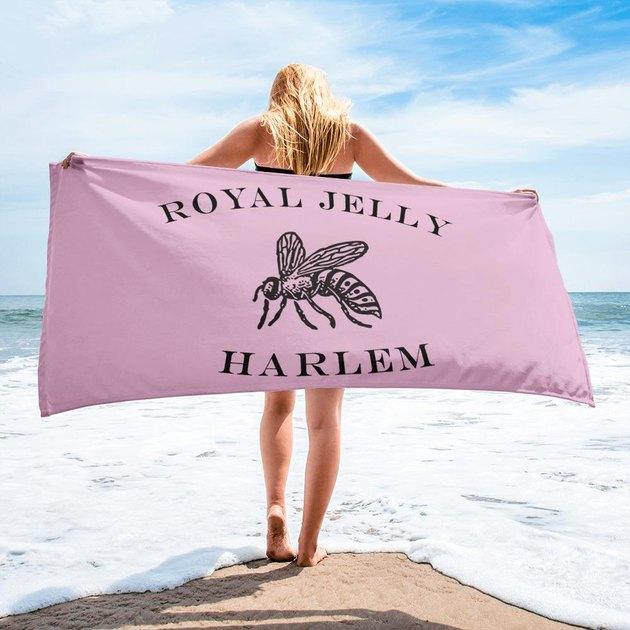 Royal Jelly Logo Towel in Raspberry