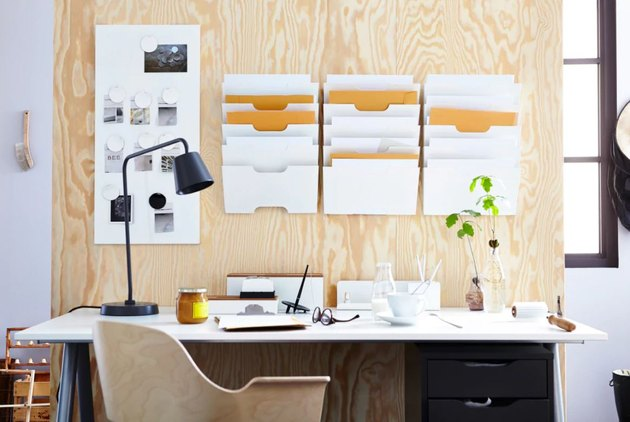 Organized desk.