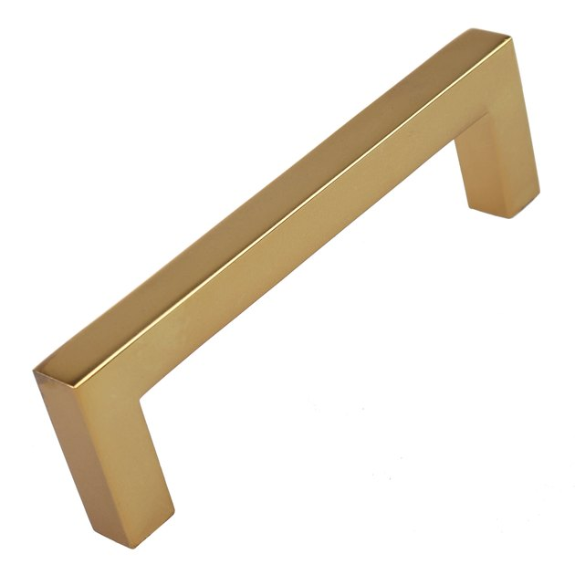 GlideRite 3-3/4 in. Center Solid Square Bar Cabinet Pulls, Brass Gold,