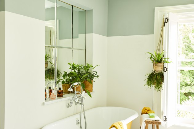 tone on tone green bathroom Tone On Tone Paint Ideas