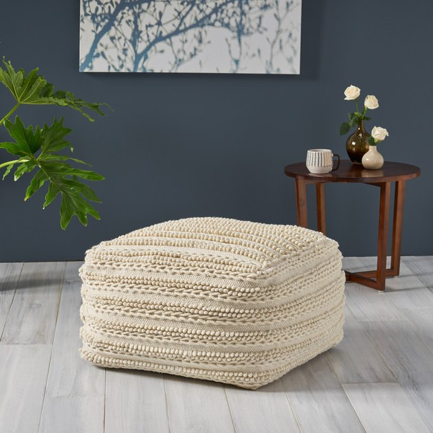 GDF Studio Large Square Pouf, $123.50