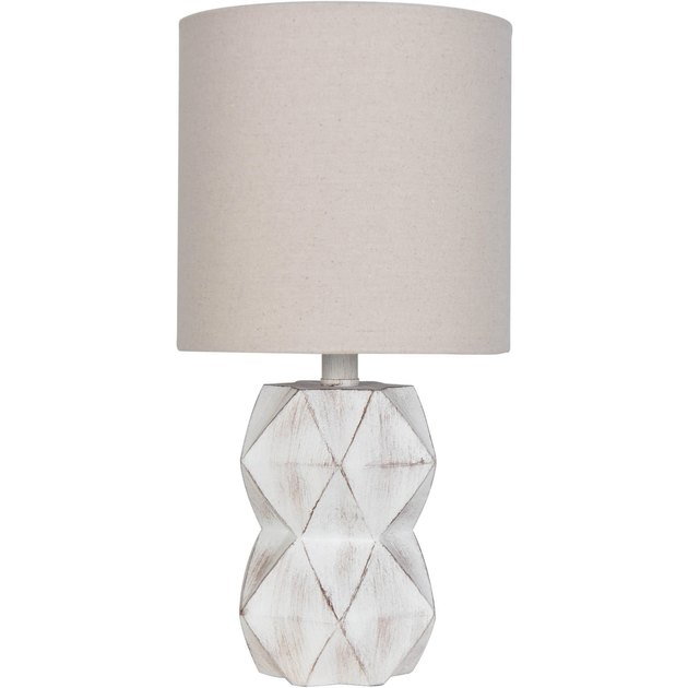 Better Homes & Gardens White Wash Faceted Faux Wood Table Lamp, $24.94