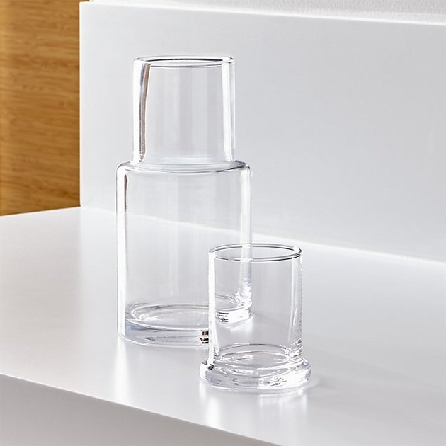 Crate and Barrel Glass Carafe