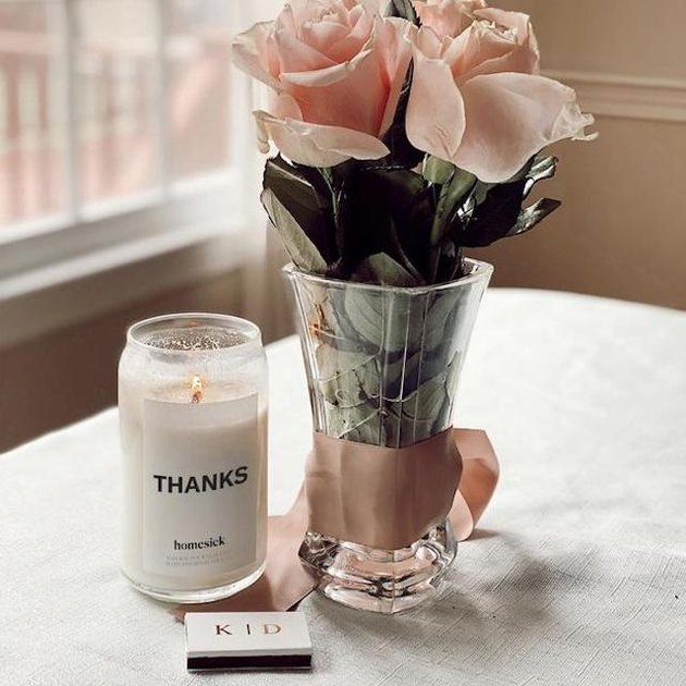 "Homesick ""Thanks"" Candle, $34"
