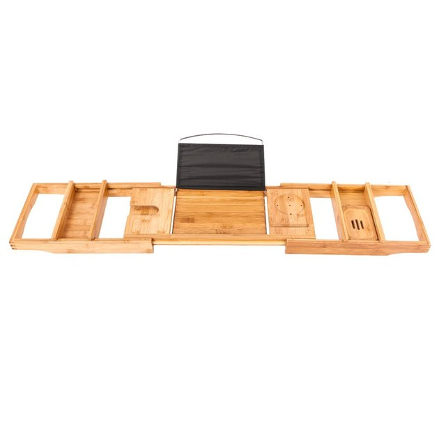 Ktaxon Bathroom Bamboo Bathtub Rack, $30.75