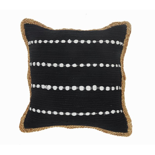 LR Home Textured Black and White Bordered Throw Pillow, $23.80