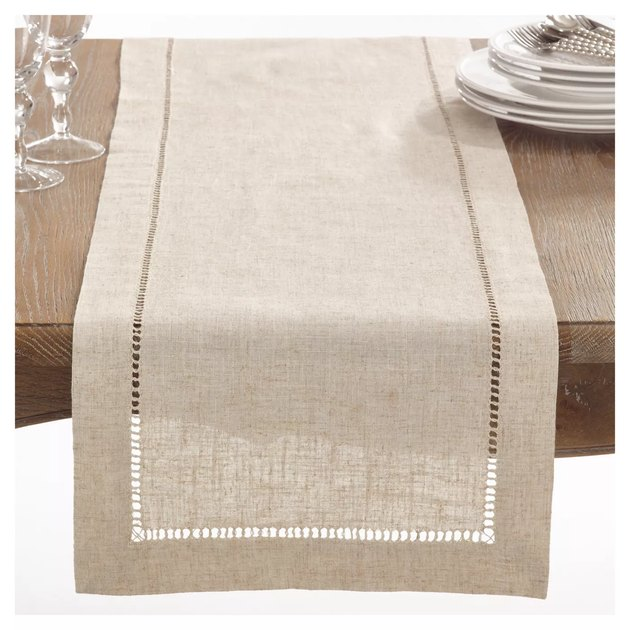 light beige table runner