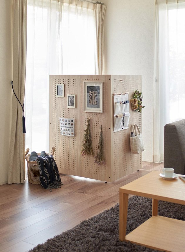 Panasonic's The Komoru at-home cubicle with pegboards