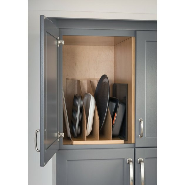 how to organize kitchen cabinets with dividers for over-sized items