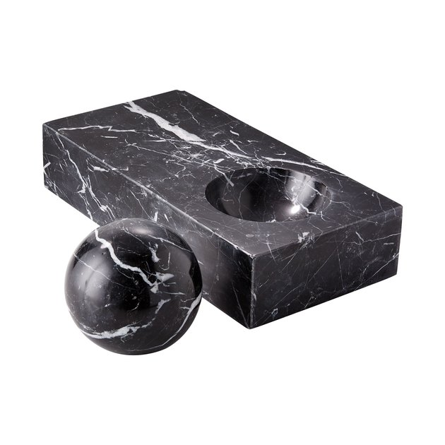 CB2 x GQ Marble Paperweight and Catchall