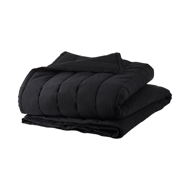CB2 x GQ Ryder Channeled Bedding in Black