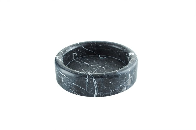 CB2 x GQ Black Marble Bowl