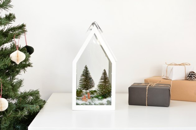 DIY IKEA holiday terrarium.
