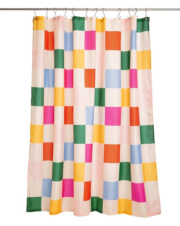 colorblock shower curtain