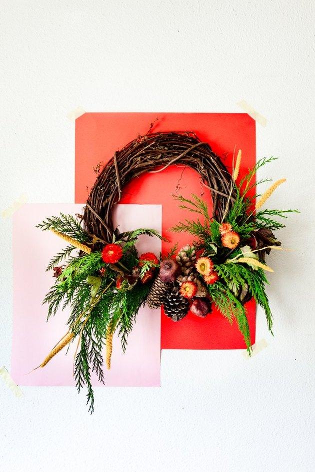 Earthy, Rich Hues Create This Beautiful DIY Autumnal Wreath