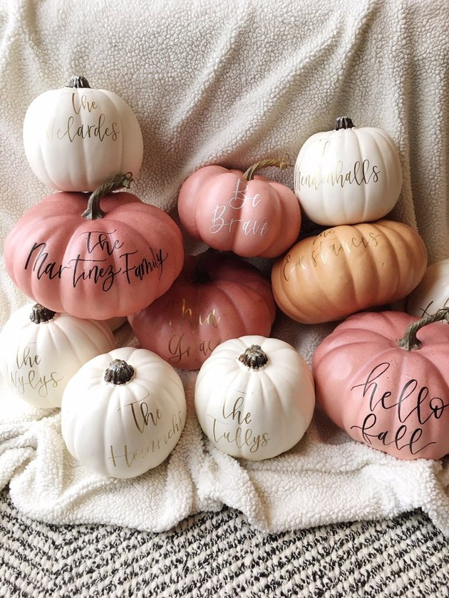 personalized pumpkin decor
