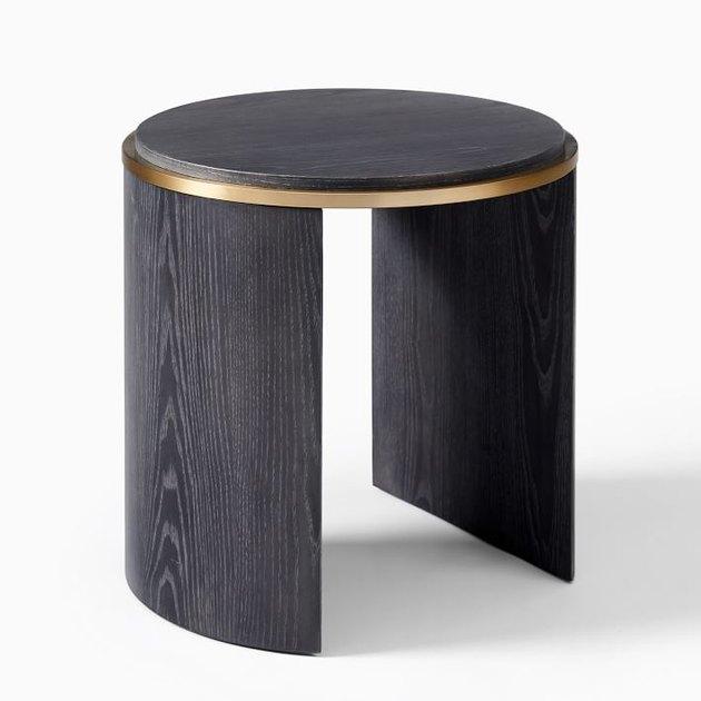 black circular side table