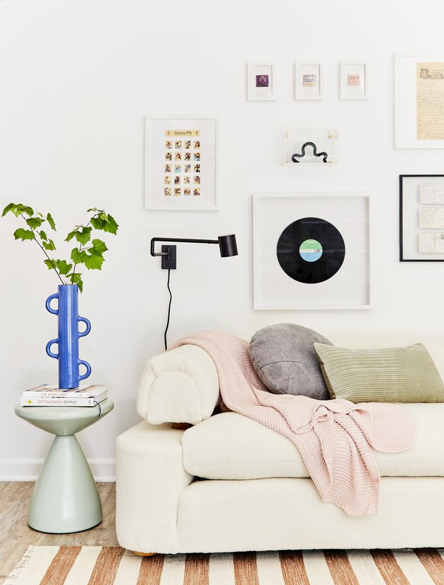 Wall sconce in the living room
