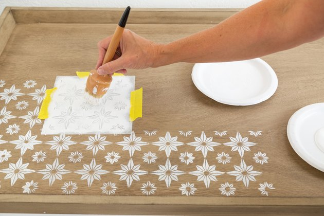 DIY Stenciled Coffee Table
