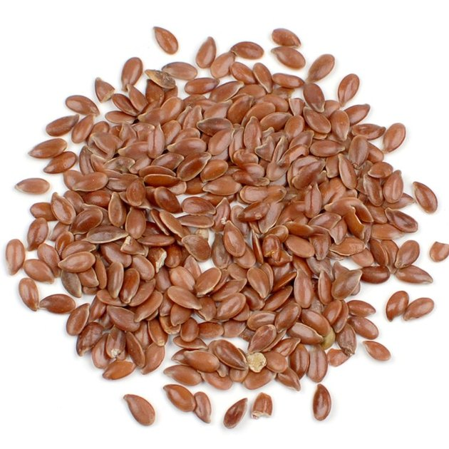 PIle of flax seeds.