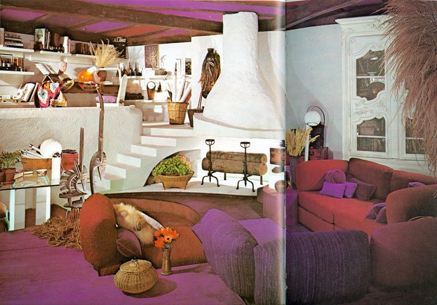 vintage living room space