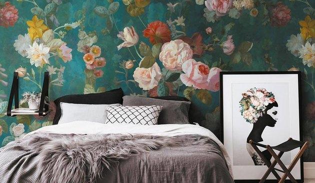 Amsterdam Element Dark Floral Mural