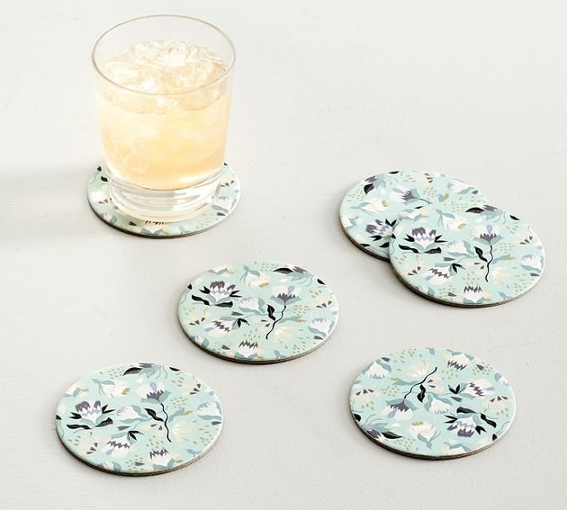 Pottery Barn Floral Seedlings Cork Coasters
