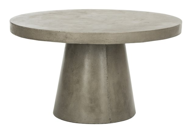 Round modern concrete coffee table