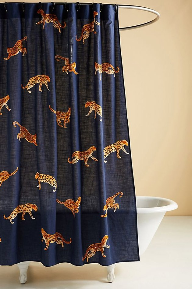 Anthropologie Leopard Shower Curtain, $88