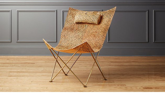 CB2 Cheetah Print Butterfly Chair, $399
