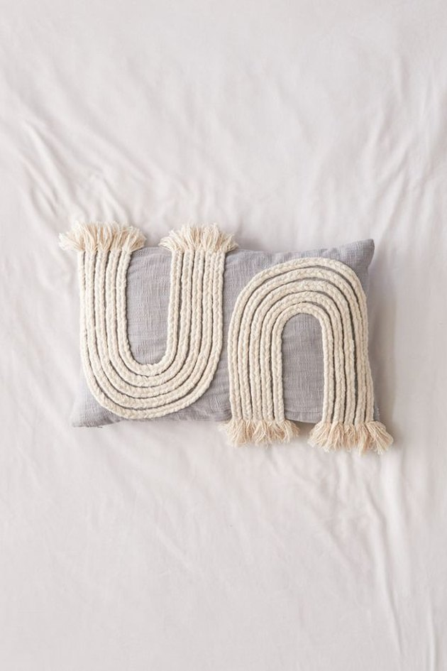 braided lumbar pillow