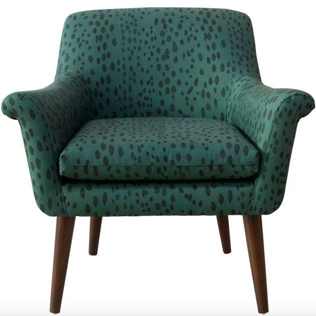 Cloth & Co Modern Armchair in Linen Leopard, $559.99