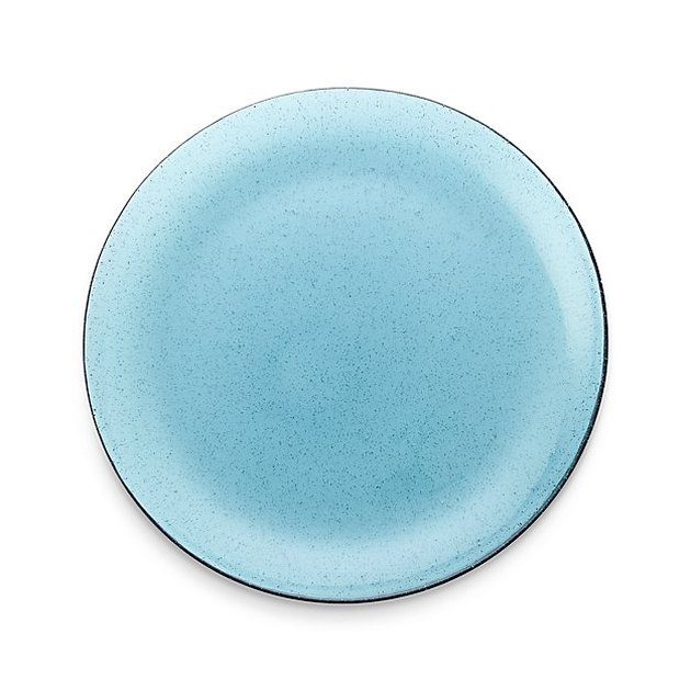 bubble glass dinner plate