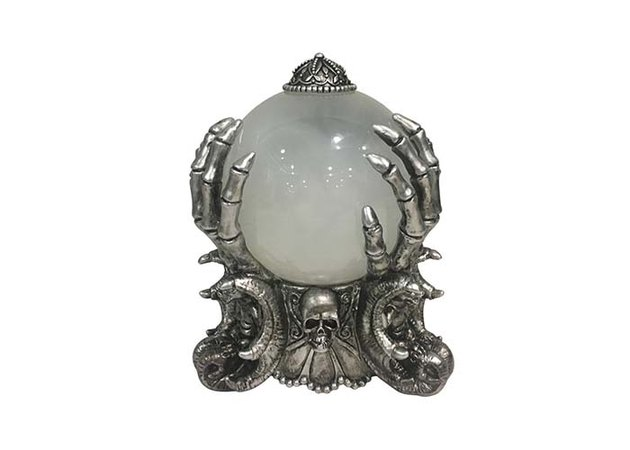 Home Accents Holiday LED Skeleton Fortune Teller Crystal Ball