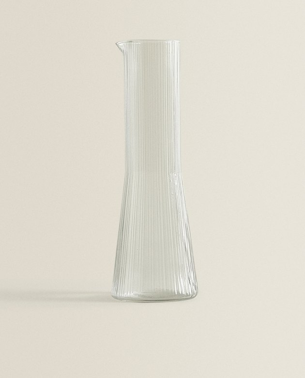 conical glass carafe