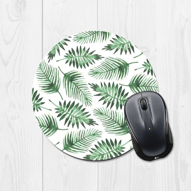 banana leaf patterned mouse pad