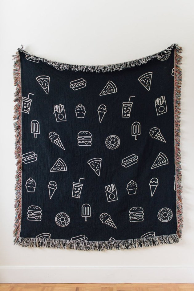 food patterned throw blanket