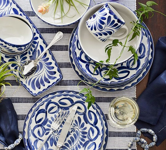 pottery barn puebla dinnerware