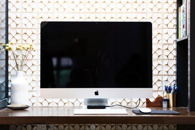 Home office wall decor backsplash