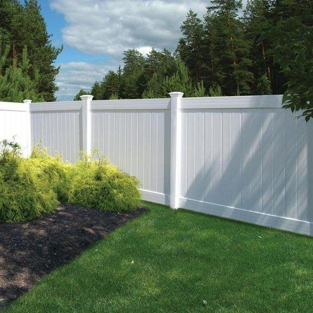 White vinyl fence.