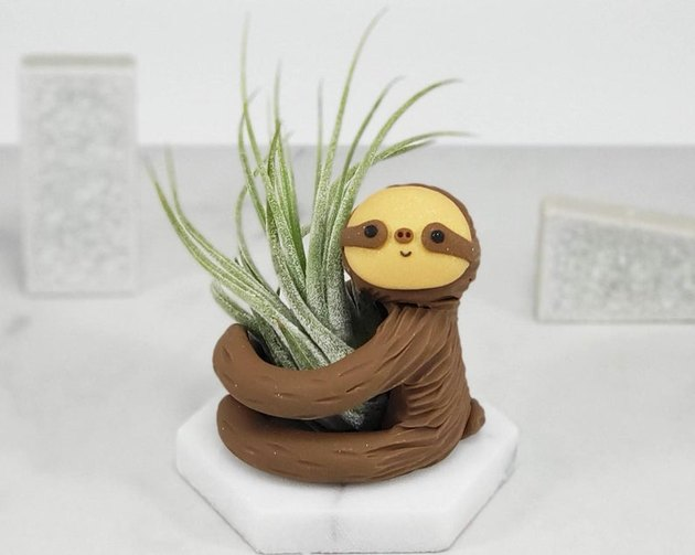 sloth-shaped air plant holder
