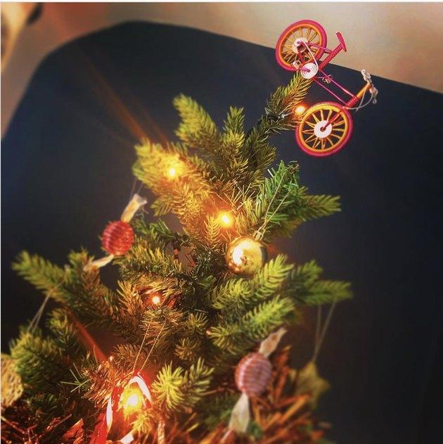 Mountain bike tree topper Christmas Tree Topper Ideas