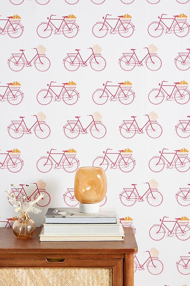 bicycle wallpaper with table nearby