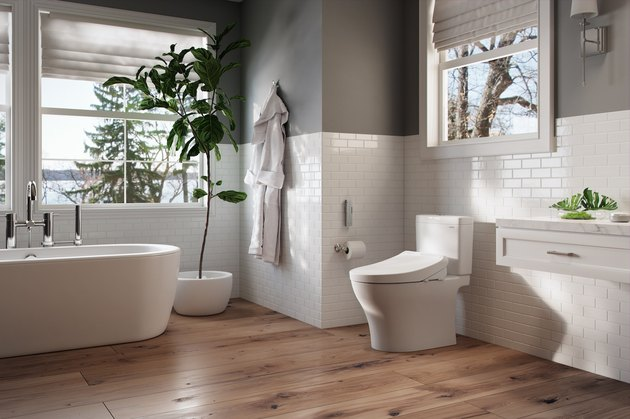 bathroom with washlet